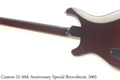PRS Custom 22 20th Anniversary Special Brownburst, 2005 Full Rear View