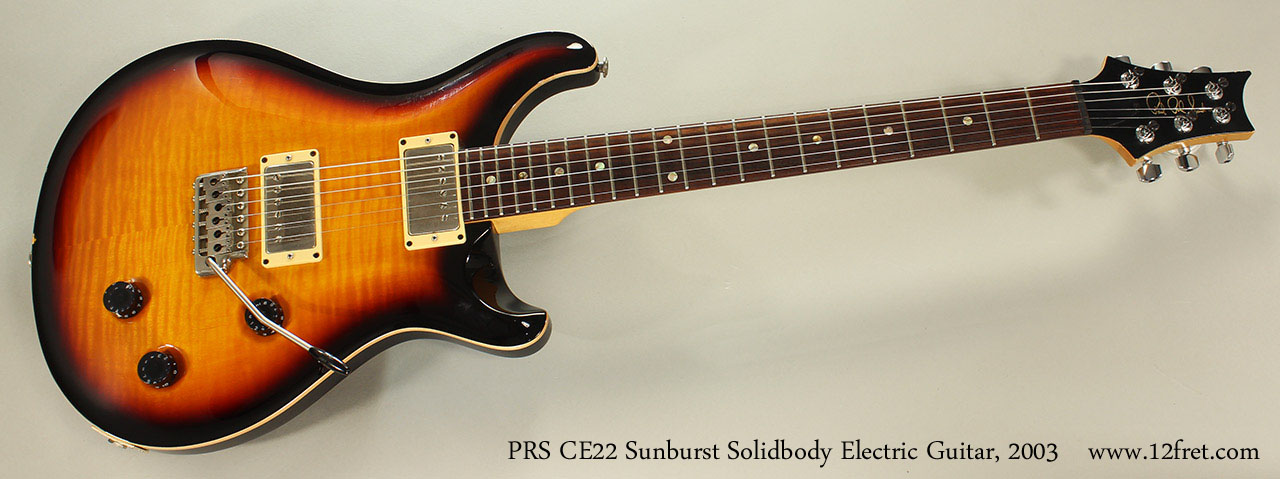 PRS CE22 Sunburst Solidbody Electric Guitar, 2003 Full Front VIew