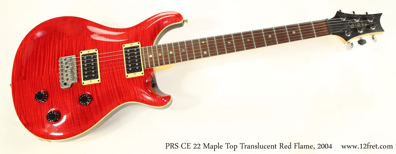 PRS CE 22 Maple Top Translucent Red Flame, 2004 Full Front View