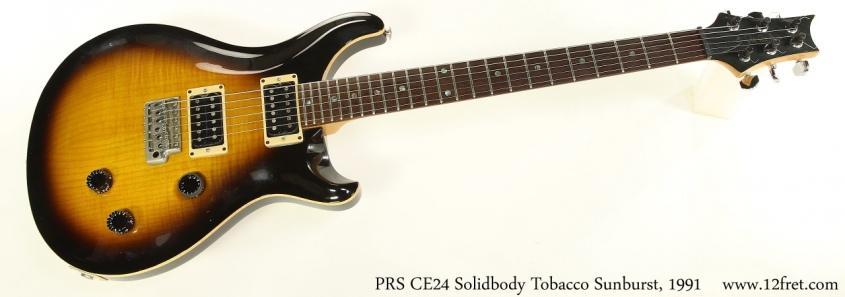 PRS CE24 Solidbody Tobacco Sunburst, 1991 Full Front View