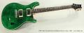 PRS CE24 Emerald Green Solidbody Electric Guitar, 1998 Full Front View