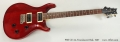 PRS CE 24, Translucent Red, 1997 Full Front View