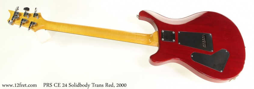 PRS CE 24 Solidbody Trans Red, 2000 Full Rear View