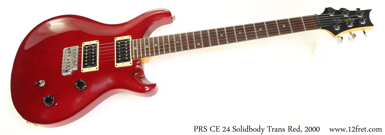 PRS CE 24 Solidbody Trans Red, 2000 Full Front View