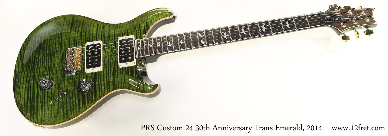 PRS Custom 24 30th Anniversary Trans Emerald, 2014 Full Front View