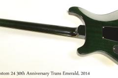 PRS Custom 24 30th Anniversary Trans Emerald, 2014 Full Rear View