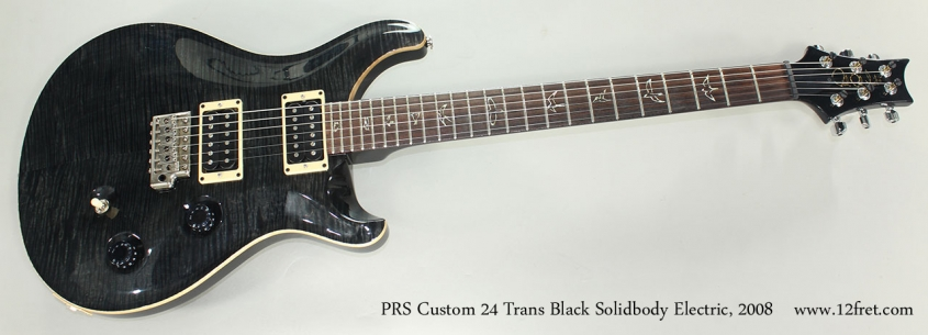 PRS Custom 24 Trans Black Solidbody Electric, 2008 Full Front View