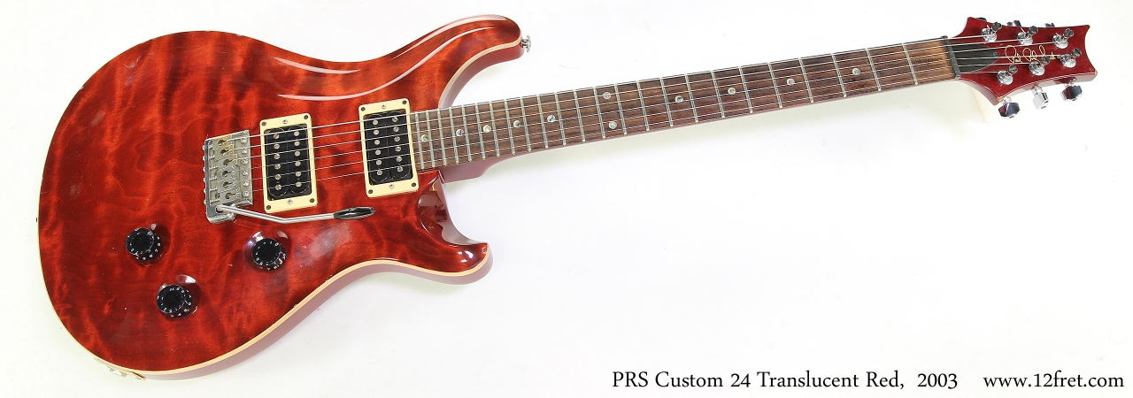 PRS Custom 24 Translucent Red,  2003   Full Front View