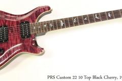 PRS Custom 22 10 Top Black Cherry, 1994 Full Front View