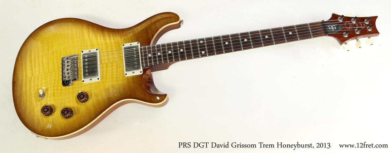 PRS DGT David Grissom Trem Honeyburst, 2013   Full Front View