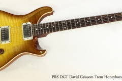 PRS DGT David Grissom Trem Honeyburst, 2013   Full Front View