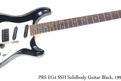 PRS EG4 SSH Solidbody Guitar Black, 1991 Full Front View