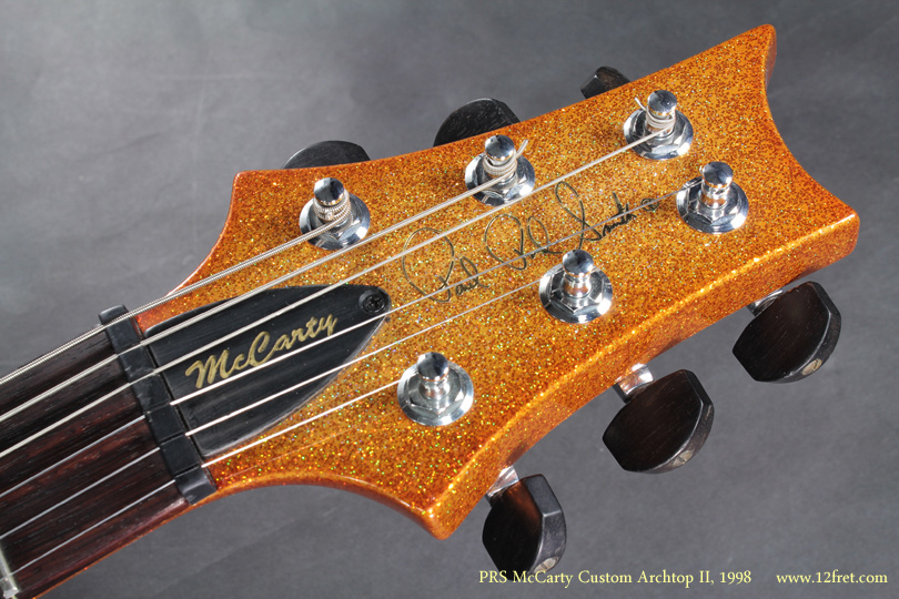 PRS McCarty Archtop II Gold Sparkle 2008 head front