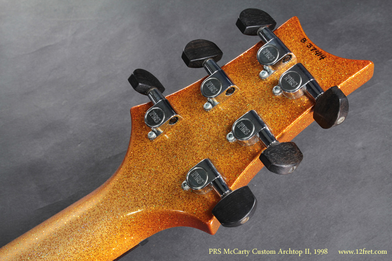 PRS McCarty Archtop II Gold Sparkle 2008 head rear