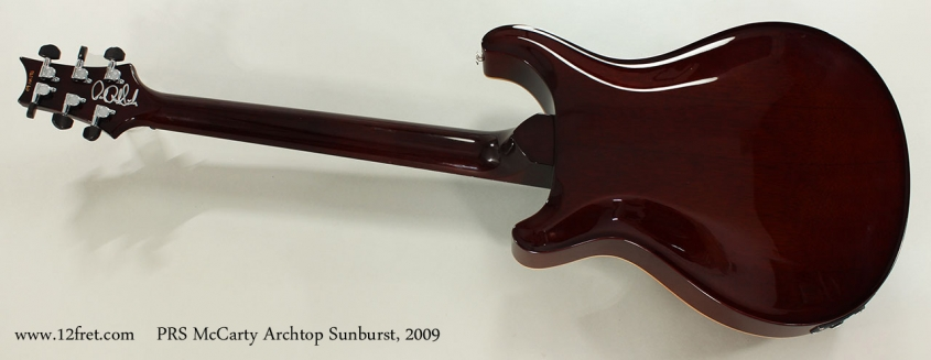 PRS McCarty Archtop Sunburst, 2009 Full Rear View
