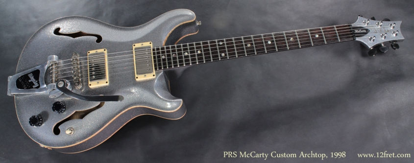 PRS McCarty Silver Sparkle Archtop 2008 full front view
