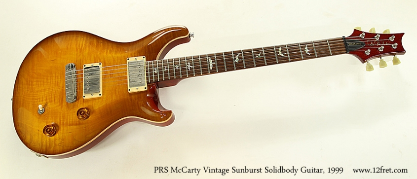 PRS McCarty Vintage Sunburst Solidbody Guitar, 1999 Full Front View
