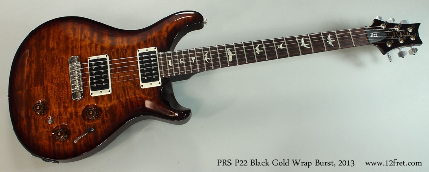 PRS P22 Black Gold Wrap Burst, 2013 Full Front View