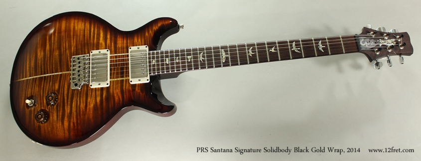 PRS Santana Signature Solidbody Black Gold Wrap, 2014 Full Front View