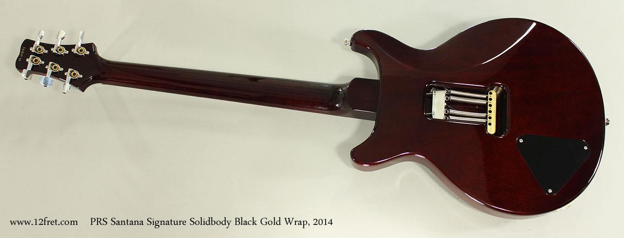 PRS Santana Signature Solidbody Black Gold Wrap, 2014 Full Rear View