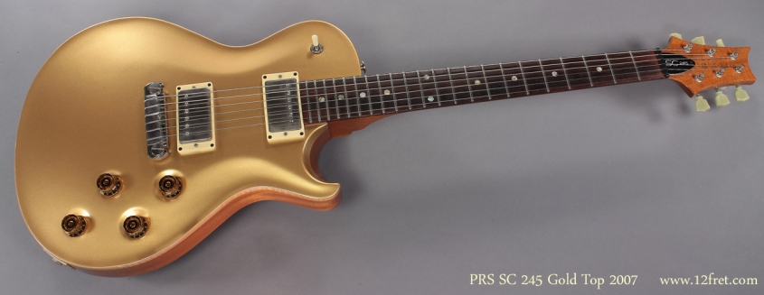 PRS SC Single Cut Gold Top 2007 full front view