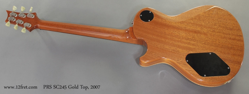 PRS SC245 Gold Top 2007 full rear view