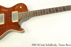 PRS SC245 Solidbody, Trans Brown, 2008 Full Rear View
