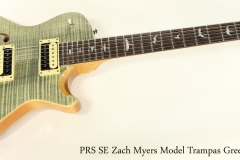 PRS SE Zach Myers Model Trampas Green, 2019    Full Front View