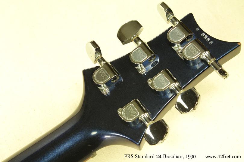 PRS Standard 24 Brazilian 1990 head rear view