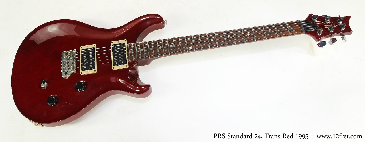 PRS Standard 24, Trans Red 1995   Full Front View