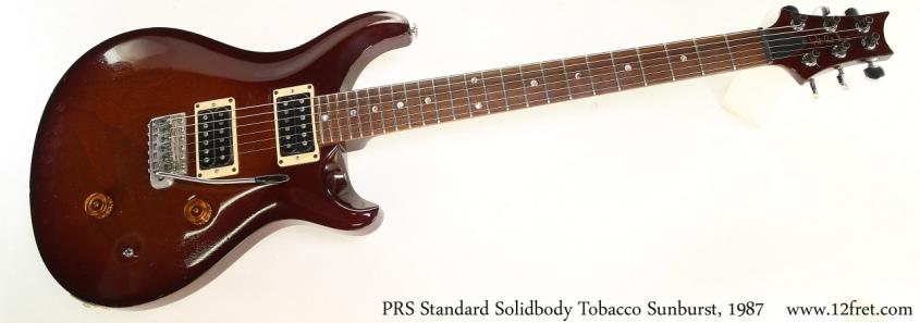 PRS Standard Solidbody Tobacco Sunburst, 1987 Full Front View