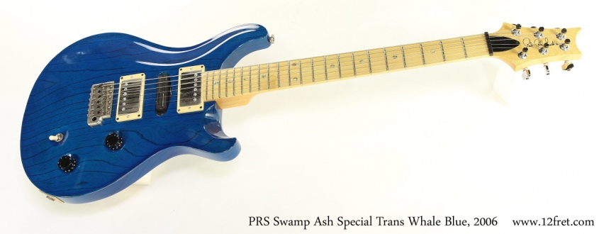 PRS Swamp Ash Special Trans Whale Blue, 2006 Full Front View