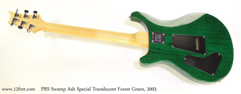 PRS Swamp Ash Special Translucent Forest Green, 2003 Full Rear View