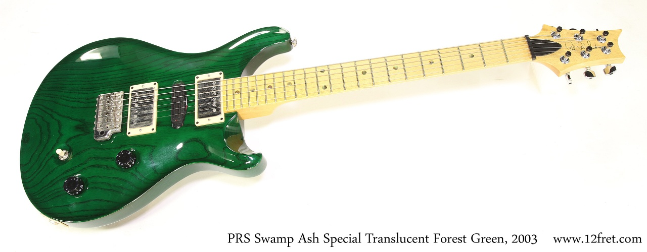 PRS Swamp Ash Special Translucent Forest Green, 2003 Full Front View