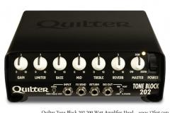 Quilter Tone Block 202 200 Watt Amplifier Head Full Front View