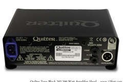Quilter Tone Block 202 200 Watt Amplifier Head Full Rear View