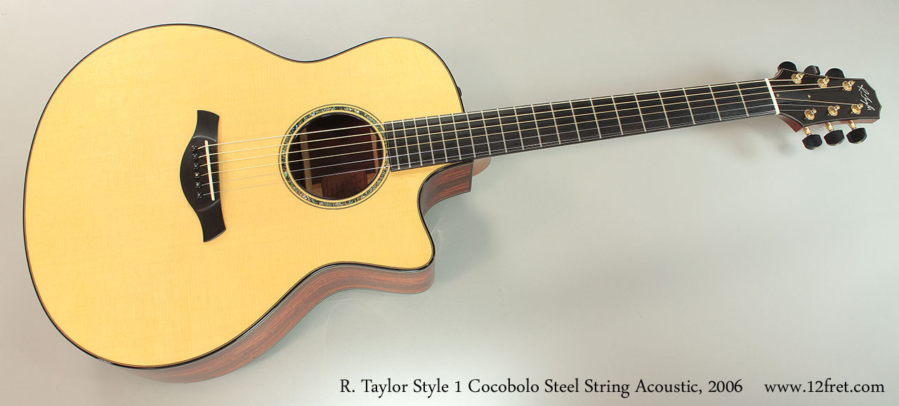 R. Taylor Style 1 Cocobolo Steel String Acoustic, 2006 Full Front View