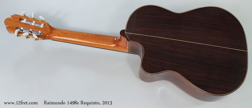 Raimundo 1498e Requinto, 2013 Full Rear VIew