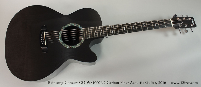 Rainsong Concert CO-WS1000N2 Carbon Fiber Acoustic Guitar, 2016 Full Front View