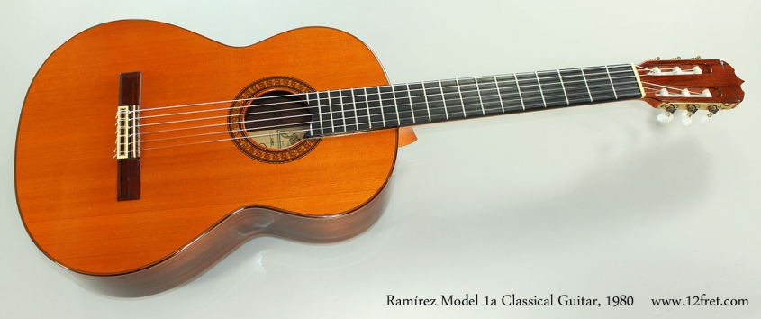 Ramírez Model 1a Classical Guitar, 1980 Full Front View