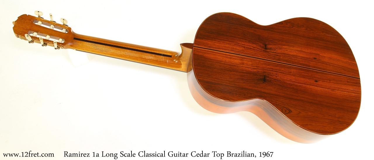 Ramirez 1a Long Scale Classical Guitar Cedar Top Brazilian, 1967 Full Rear View