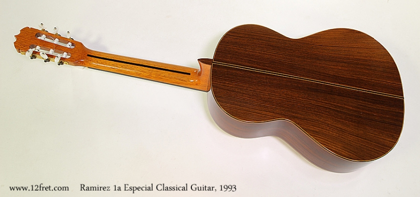 Ramirez 1a Especial Classical Guitar, 1993 Full Rear View
