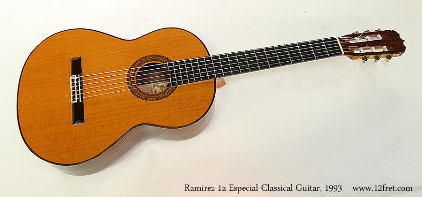 Ramirez 1a Especial Classical Guitar, 1993 Full Front View