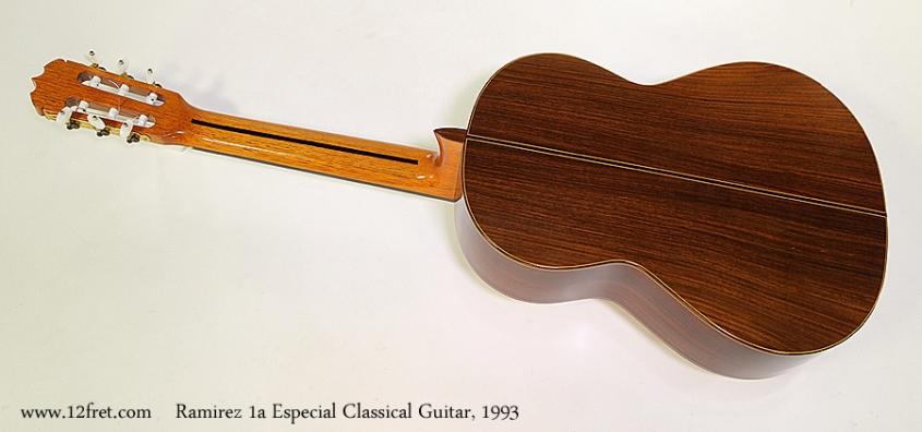 Ramirez 1a Especial Classical Guitar, 1993 Full Rear View