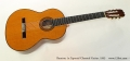 Ramirez 1a Especial Classical Guitar, 1993 Full Front View