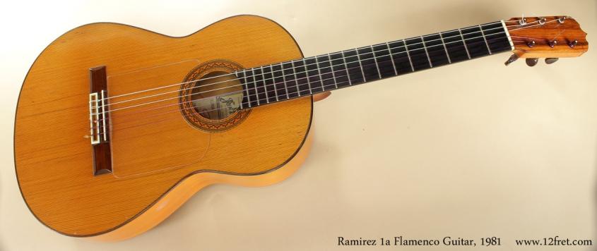 Ramirez ia Flamenco Guitar 1981 full front view