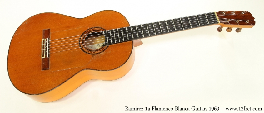 Ramirez 1a Flamenco Blanca Guitar, 1969   Full Front View