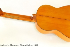 Ramirez 1a Flamenco Blanca Guitar, 1969   Full Rear View