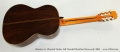Ramirez 1a Classical Guitar Left Handed Brazilian Rosewood, 2003 Full Rear View