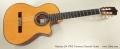 Ramirez 2N CWE Cutaway Classical Guitar Full Front View